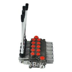 5 Spool Hydraulique Commande Directionnelle Vanne Multivoie Directionnelle Vanne De Régulation
