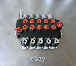 5 Spool Hydraulique De Commande Directionnelle Valve Double Effet Cylindre No Poignees