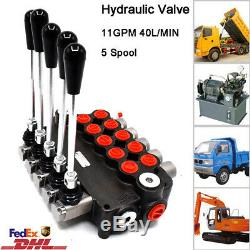 5 Spool Hydraulique Monobloc De Commande Directionnelle Valve 11 Gpm 40l / Min 2900psi