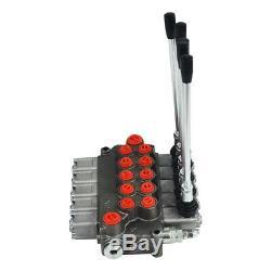 5 Spool Monobloc Hydraulique De Commande De Soupape Directionnelle, 11 Gpm