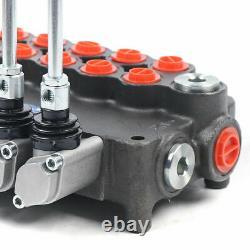 5 Spool Tracteurs Hydraulique De Contrôle Directionnel Valve Pression Réglable 31.5mpa