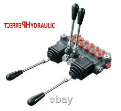 6 Bank Hydraulic Directional Control Valve 2x Joystick 23gpm 40l 6x Double 5xda