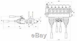 6 Banque 2 Joysticks Monobloc Hydraulique De Commande Directionnelle Valve 11gpm 40l