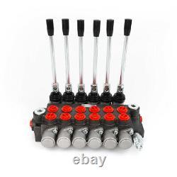 6 Bobine Valve De Commande Directionnelle Hydraulique Réglable 11gpm Pour Chargeur Tracteur