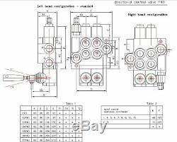 6 Distributeur Hydraulique Bobine 11gpm (40l / Min) 6p40 Avec 2 Joysticks