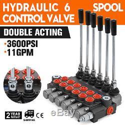 6 Soupape De Commande Directionnelle Hydraulique Bobine 11gpm, Le Cylindre À Double Effet Bobine