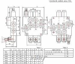 6 Soupape De Commande Directionnelle Hydraulique Bobine 21gpm, Le Cylindre À Double Effet Bobine