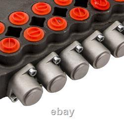 6 Soupape Hydraulique De Commande Directionnelle Valve 21gpm + 2 Joysticks 3625psi