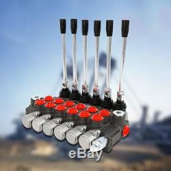 6 Spool 6 Manette Monobloc Hydraulique De Commande Directionnelle Valve 11gpm 40l