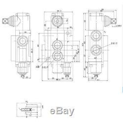 6 Spool Hydraulique Commande Directionnelle Valve 11gpm 6p40, Vérin À Double Effet