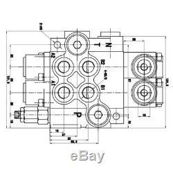 6 Spool Hydraulique De Contrôle Directionnel Valve 11gpm 3600 Psi Pour Tracteurs