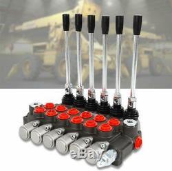 6 Spool Hydraulique Directionnel Soupape De Commande De Vérin À Double Effet Spool