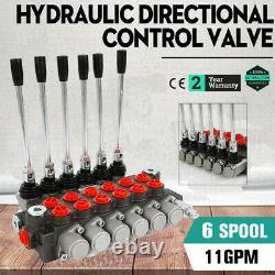 6 Spool Hydraulique Directionnelle Vanne De Régulation 11gpm, Double Effet Cylindre Spool