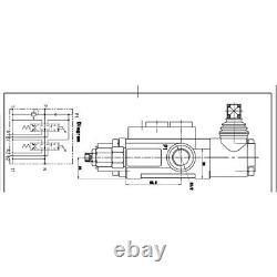 6 Spool Hydraulique Réglable Valve Directionnelle 11gpm, Double Effet Cylindre États-unis