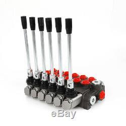 6 Spool Monobloc Hydraulique Directionnelle Vanne De Régulation De Pression Réglable 11 Gpm