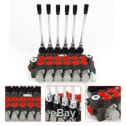 6 Spool Valve Hydraulique 1/2 Bspp Hydraulique De Commande Directionnelle Valve 11gpm