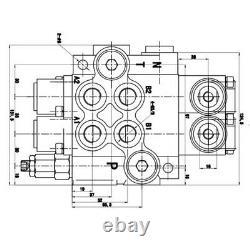 6 Valve De Commande Directionnelle Hydraulique De Bobine 11gpm Cylindre À Double Action 40l/min