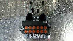 6 Valve De Commande Directionnelle Hydraulique De Bobine 21gpm (80l/min) 6p80 + 2 Joysticks