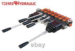 7 Bank Hydraulic Directional Control Valve 2x Joystick 23gpm 40l 7x Double 7xda
