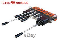 7 Banque 2 Joysticks Monobloc Hydraulique De Commande Directionnelle Valve 11gpm 40l Da