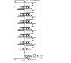 7 Hydraulique Bank Monobloc Directionnel Spool Valve 3/8 Bsp 40l 315 Bar 11 Gpm