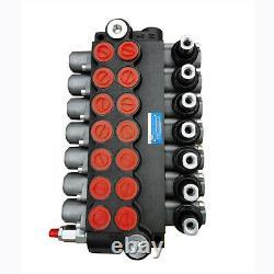 7 Soupape De Commande Directionnelle Hydraulique De Bobine 13gpm Pour Chargeuse De Tracteurs, Réglable