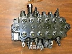 Bucher Hydraulics 6 Spool 45 Lpm Monobloc De Commande Directionnelle Valve Hdm11s / 6 P