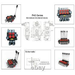 Chargeur De Commande Directionnelle Hydraulique Avec Joystick, 3 Bobines, 13 Gpm