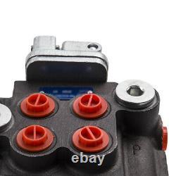 Chargeur De Tracteur De Vanne De Régulation Directionnelle Hydraulique Avec Joystick 2 Spool 11 Gpm