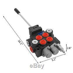 Commande De Direction Hydraulique Du Tracteur Valve Chargeur Avec Joystick, 2 Spool, 11 Gpm