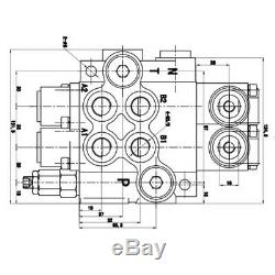 Contrôle Directionnel Hydraulique Tracteur Valve Chargeur + Manette 2 Spool 11gpm Nouveau