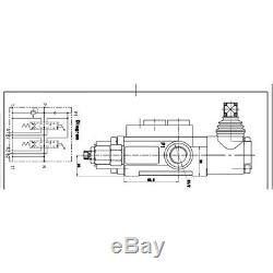 Contrôle Directionnel Hydraulique Valve Tracteur Chargeur + Manette 2spool 11gpm Durable