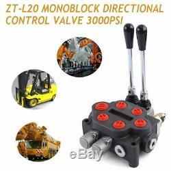 Directionnelle Hydraulique Vanne De Régulation, 2spool 25gpm Monobloc Commande Directionnelle