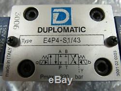 Duplomiati E4p4-s1 / 43 Commande De Direction E4p4s143 Hydraulique Valve 120vacnew