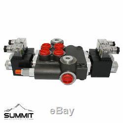 Electrovanne Hydraulique Monobloc Directionnel De Commande De Soupape, 2 Spool, 21 Gpm, 12v DC