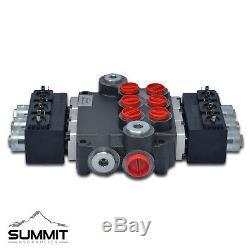 Electrovanne Hydraulique Monobloc Directionnel De Commande De Soupape, 3 Spool, 21 Gpm, 12v DC