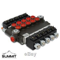 Electrovanne Hydraulique Monobloc Directionnel De Commande De Soupape, 5 Spool, 21 Gpm, 12v DC