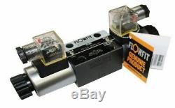 Flowfit Hydraulique Cetop 5 Ng10 3 Position Solenoid Commande Directionnelle Valve