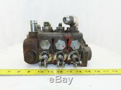 Gresen Parker 8072 Rev E Hydraulique Directionnel De Commande 3 Section Spool Valve