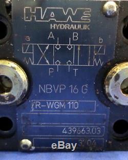 Hawe Hydraulique Directionnelle Valve Nbvp 16 G / R-wgm 110 439663,03