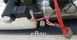 Hydraulique 12 VDC Avec Électrique À Double Soupape De Commande Directionnelle À Action, 4 Bobine