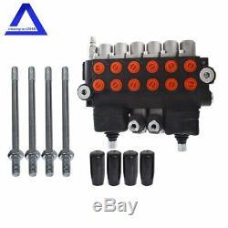 Hydraulique Chargeuse-pelleteuse Directionnel De Commande De Soupape Avec 2 Joysticks, 6 Spool, 11 Gpm