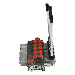 Hydraulique Monobloc Solenoid-distributeur, 5 Spool, 11 Us Gpm Stock