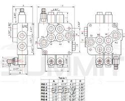 Monobloc De Commande Directionnelle Hydraulique Valve, 3 Spool, Avec L'unité À Flotteur, 21 Gpm