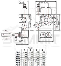 Monobloc Directionnelle Hydraulique De Commande De Soupape Avec 2 Joysticks, 6 Spool, 21 Gpm