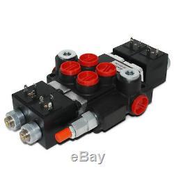Monobloc Hydraulique Directionnelle Electrovanne De Commande, 2 Spool, 13 Gpm, 12v DC