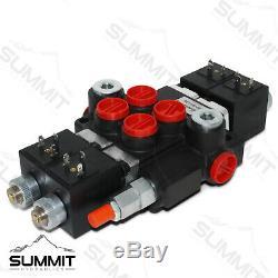 Monobloc Hydraulique Directionnelle Solénoïde De Commande De Soupape 2 Spool, 13 Gpm Avec Switch