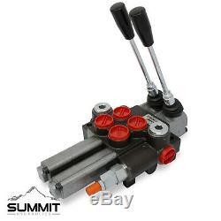 Monobloc Hydraulique-distributeur, 2 Spool Avec Double Flotteur Detent