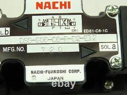 Nachi Dss-g06-c6-r-d2-e12 Contrôle Directionnel Hydraulique Vanne Solénoïde 24vdc D08
