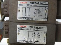 Nachi Sl-g01-c6-r-d2-30 Solenoid Directional Control 2 Valve Manifold Assembly